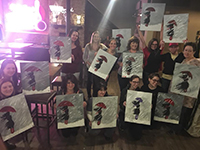 paint and sip at Evil Horse